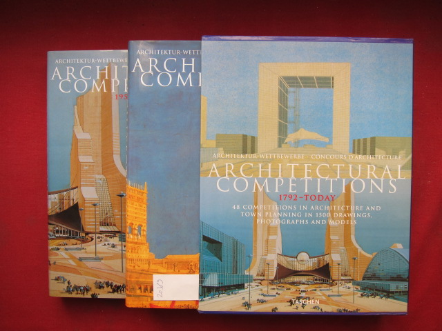 Architectural competitions = Architektur-Wettbewerbe. 1792 - Today [2 Bände/Vol.] Concours D`Architecture. 48 Competitions in architecture and town planning in 1500 drawings, photographs and models. EUR
