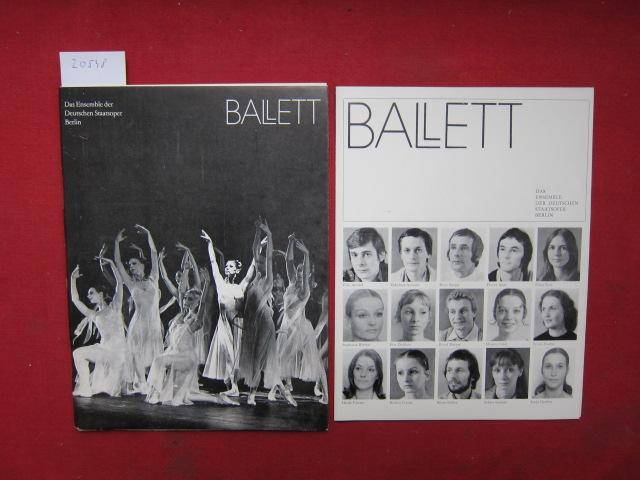 Ballett : Das Ensemble d. Deutschen Staatsoper Berlin ; Das Repertoire in Text u. Bild ; Chronik d. Ballettpremieren ; Biografien d. Ballettsolisten. Hrsg. im Auftr. d. Intendanz von Ines Helmstädter. EUR