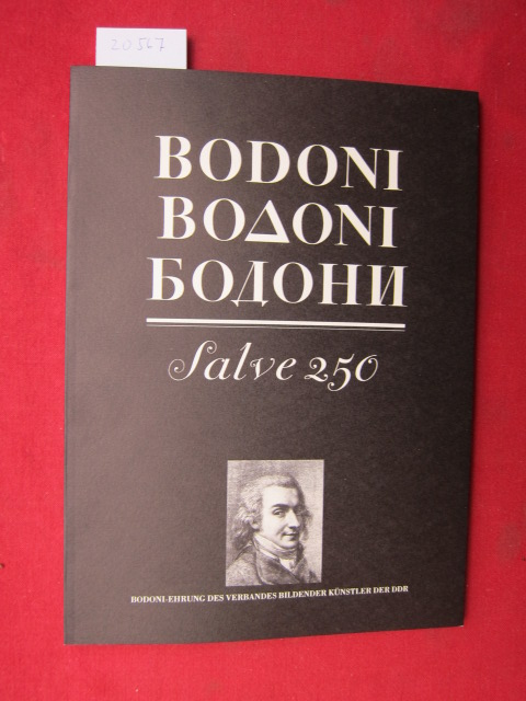 Bodoni in Berlin : Widmung an die Leser: F. M. Ricci. Vorwort Manuale Tipografico (1818) G. Bodoni. EUR