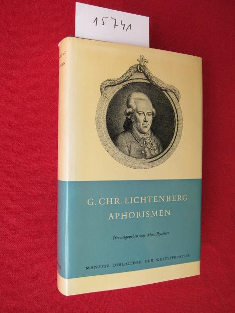Aphorismen. Manesse Bibliothek der Weltliteratur ; EUR