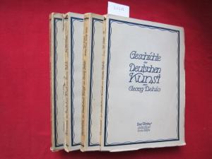 Geschichte der Deutschen Kunst. Des Textes / Der Abbildungen 3. Band - 1. und 2. Hälfte (in 4 Teilbänden) EUR