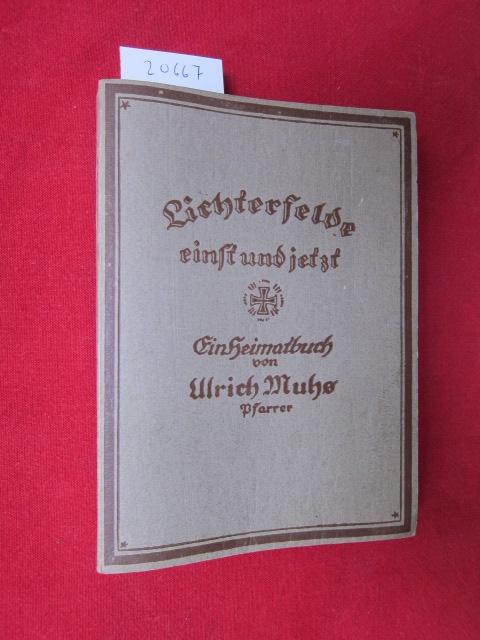 Lichterfelde einst und jetzt : Ein Heimatbuch. Mit Zeichn. von Fritz Preiß. EUR
