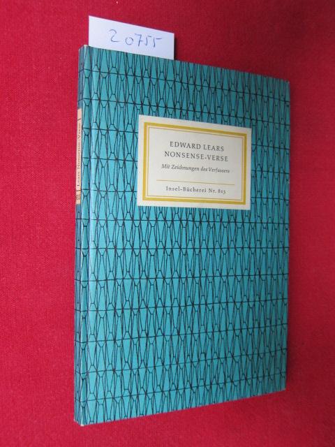 Edward Lear`s Nonsense Verse. Mit 55 Zeichn. d. Autors. [Aus d. Engl. übertr. von H. C. Artmann. Nachw. von Klaus Reichert] / Insel-Bücherei ; Nr. 813 EUR