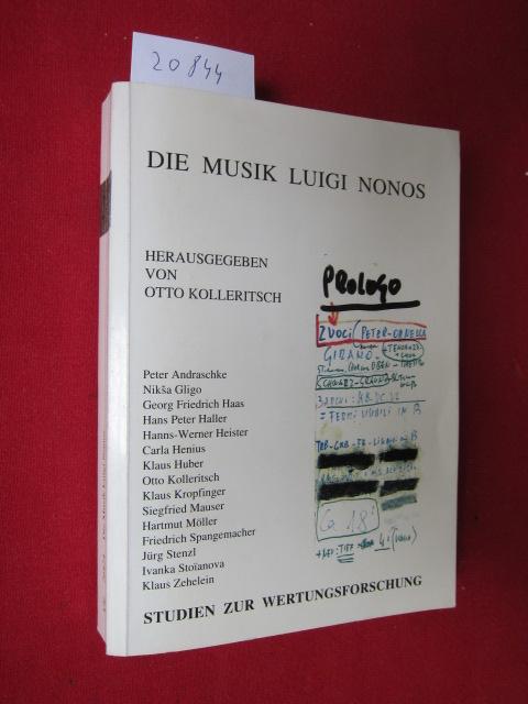 Die Musik Luigi Nonos. Studien zur Wertungsforschung ; Bd. 24. EUR