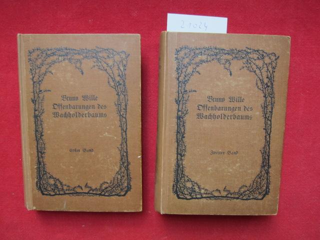 Offenbarungen des Wacholderbaums : Roman eines Allsehers. Band 1 und 2. Den Buchschmuck zeichnete Fidus. EUR