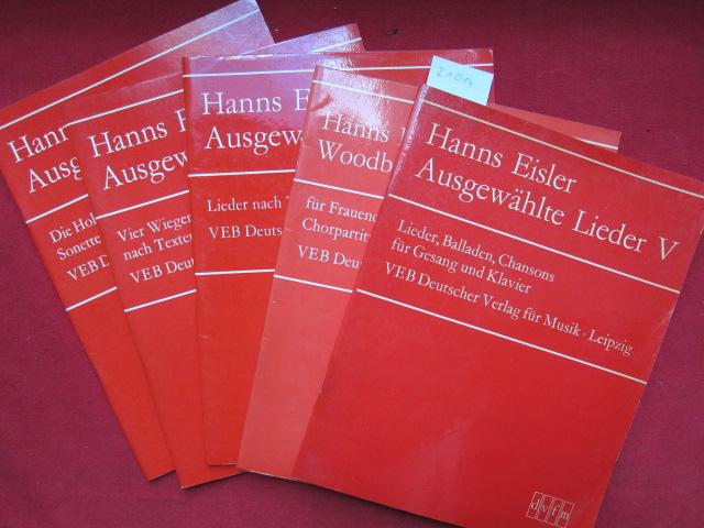 Konvolut aus 5 Heften : Woodburry-Liederbüchlein ; Ausgewählte Lieder II - V. EUR