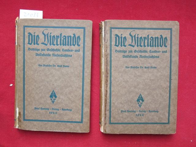 Die Vierlande : Beiträge zur Geschichte, Landes- u. Volkskunde Niedersachsens ; [2 Teile - komplett]. EUR