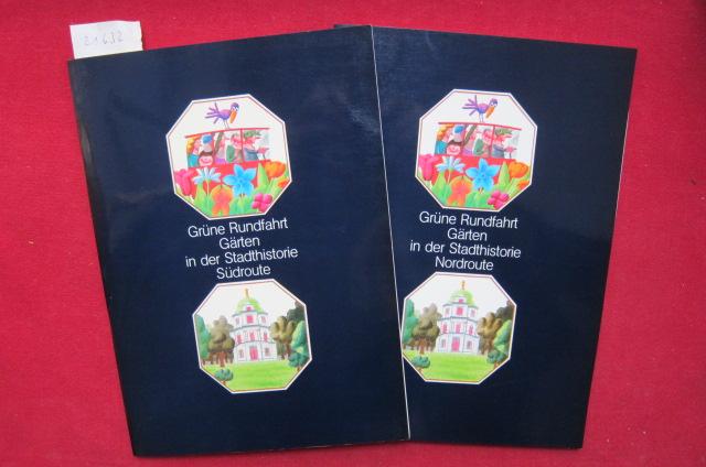 2 Hefte: Gärten in der Stadthistorie : Nordroute und Südroute. Grüne Rundfahrt; Grün in der Stadt. EUR