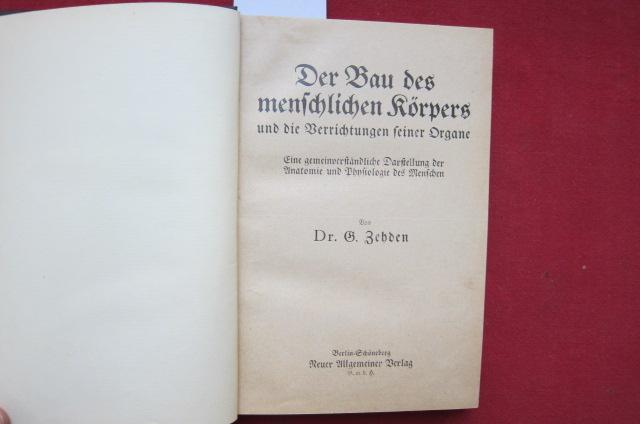 2 Bände in 1: 1) Der Bau des menschlichen Körpers [..] / 2) Vorbeugung der Empfängnis und Verhütung [...] EUR