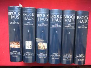 Brockhaus - die Bibliothek; Die Weltgeschichte. [6 Bände - komplett] EUR