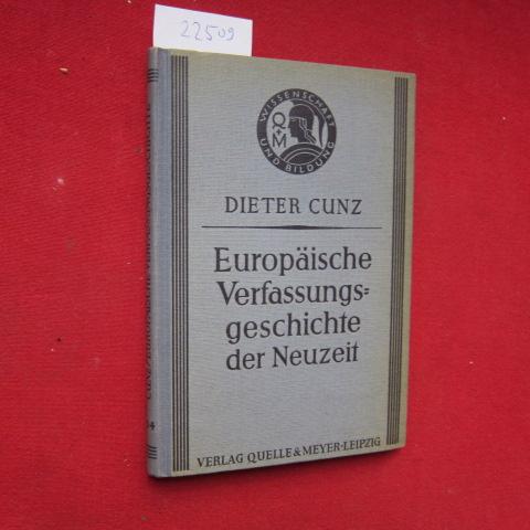 Europäische Verfassungsgeschichte der Neuzeit. Wissenschaft und Bildung ; 304. EUR 0