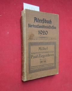 Adreßbuch für den Landkreis Dessau 1920. Nach amtlichen Unterlagen bearbeitet. EUR