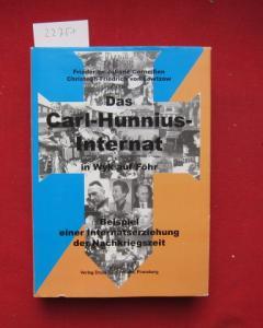 Das Carl-Hunnius-Internat in Wyk auf Föhr : Beispiel einer Internatserziehung der Nachkriegszeit. EUR