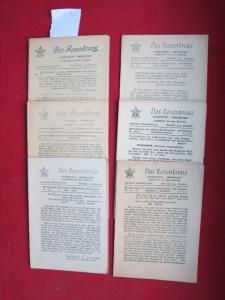 Das Rosenkreuz - Hefte 1-12/1952 (6 Hefte - komplett) - Rosenkreuzer-Gemeinschaft. Gegründet durch Max Heindel. Mitteilungen für unsere Studierenden und Freunde. EUR