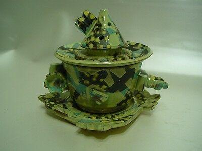 B554/ Designertasse mit Teefilter Keramik, 4 Teile