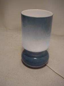 C451/ Hellblaue Design Tisch Lampe Made in Italy