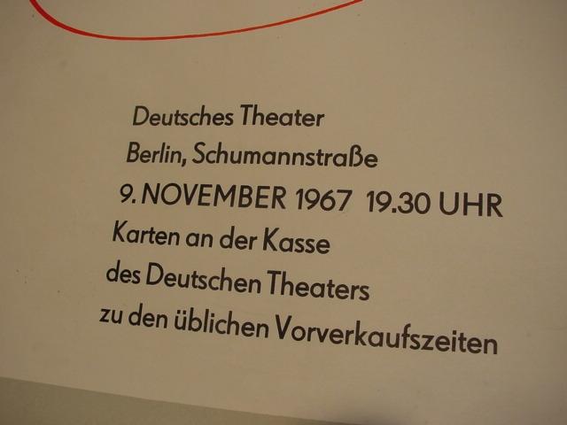 E 315 / Plakat Arnold Zweig zum 80. Geburtstag 3