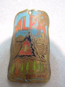 D136/ ALPA Fahrrademblem Fahrradschild Steuerkopfschild