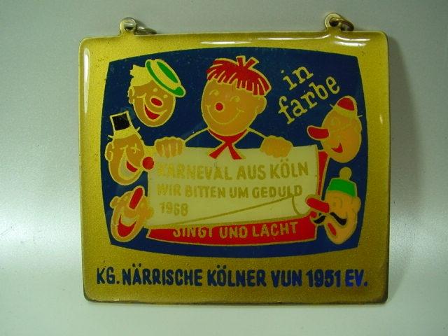 B635/ Orden Karneval Plakette Köln Emaille