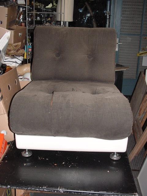 CM40/ 70er Jahre Sessel Kunststoff