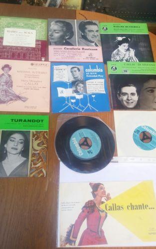 E794/ kleine Callas Sammlung Vinyl 45