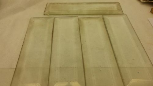 E805/ 5 Möbelgläser mit geschliffenem Rand Facettglas