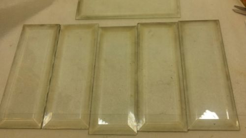 E804/ 6 Möbelgläser mit geschliffenem Rand Facettglas