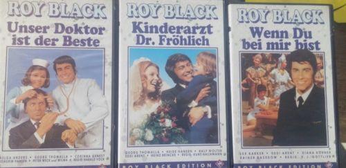 E601/ 3x Roy Black VHS