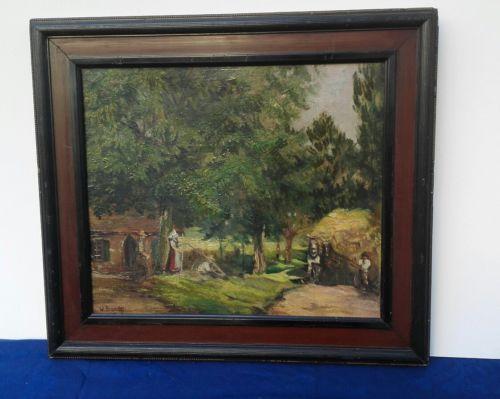 E 907/ Ölbild von Willibald Brandes Landszene