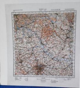 E930/ topografische Karte DDR vertrauliche Verschlusssache M-33-xv Praha