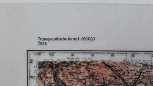 E930/ topografische Karte DDR vertrauliche Verschlusssache M-33-xv Praha 2