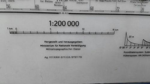 E930/ topografische Karte DDR vertrauliche Verschlusssache M-33-xv Praha 3