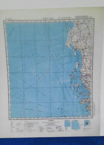 E929/ topografische Karte DDR vertrauliche Verschlusssache N-32-A Esbjerg
