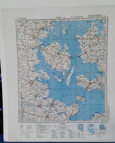 E928/ topografische Karte DDR vertrauliche Verschlusssache N-32-B Kiel
