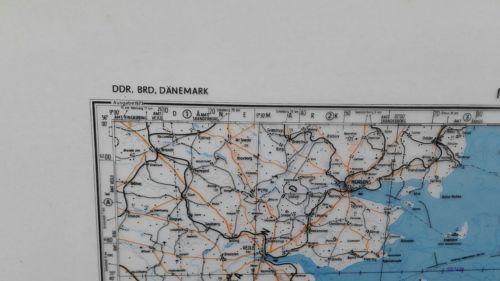 E928/ topografische Karte DDR vertrauliche Verschlusssache N-32-B Kiel 2