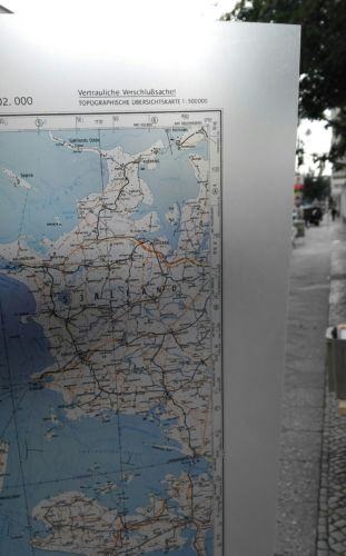 E928/ topografische Karte DDR vertrauliche Verschlusssache N-32-B Kiel 4