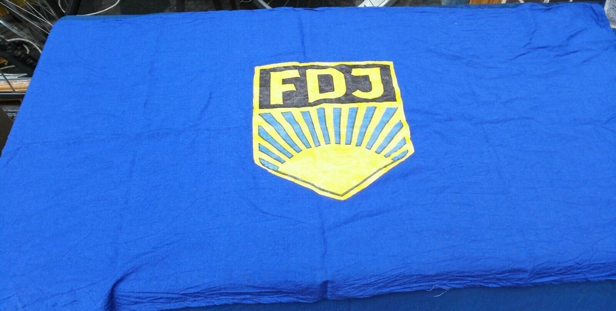 E923/ FDJ Fahne Baumwolle