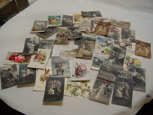 C107/ 35 alte Postkarten, teilw. Feldpost