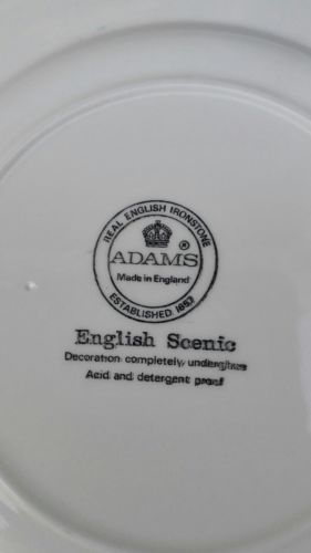 E942/ Adams English Scenic Grün Kuchenteller 21 cm 2