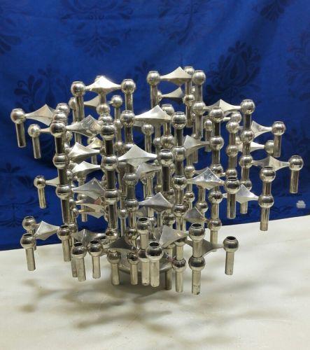 E981/ 41 x Nagel BMF Quist Stecksystem, Kerzenständer Skulptur mit Schale