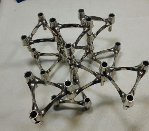 E993/ 10 Kerzenständer BMF Nagel Quist Kerzenleuchter Stecksystem 70er Jahre 2