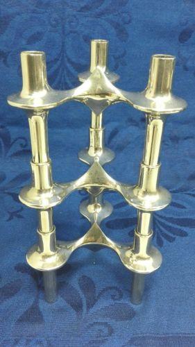 E992/ 3 Kerzenständer BMF Nagel Quist Kerzenleuchter Stecksystem 70er Jahre 3