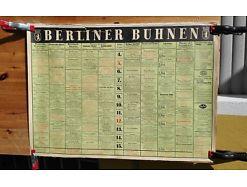 E54/ Poster Plakat Spielplan Berliner Bühnen 1967