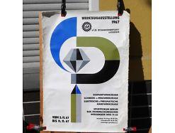 E51/ Poster Plakat Werkzeugausstellung 1967