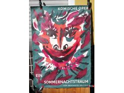 E47/ Poster Plakat Komische Oper  Ein Sommernachtstraum: Benjamin Britten