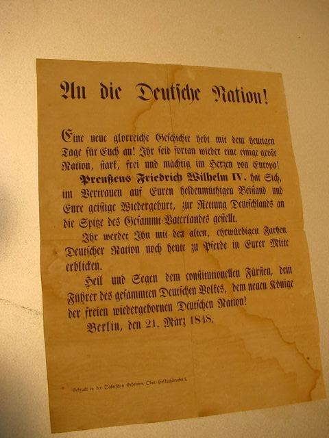 C318/ Aufruf an die Deutsche Nation Friedrich Wilhelm