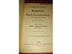 E103/ Wanderbuch für die Mark Brandenburg 1.Teil Nähere Umgebung Berlins 1910 2