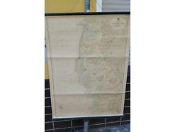 Schulwandkarte Rollkarte die nordfriesischen Inseln mit Helgoland