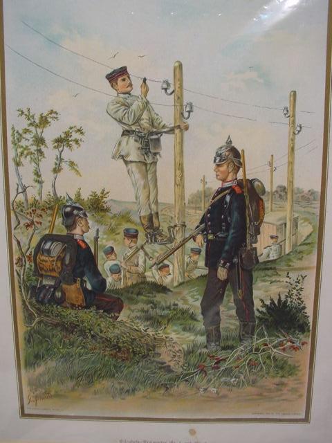 GC286/ Druck Eisenbahn Regimenter Nr.1 und 2, Bild im Passepartout