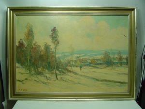 GC6/ Ölbild Winterlandschaft a.Petricek